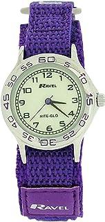 Ravel Girls Nite-Glo Quartz Luminous Dial & Purple Easy Fasten Watch R1708.7