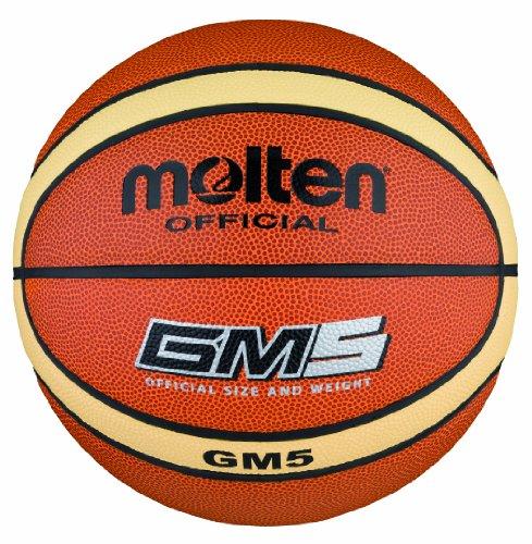 Molten - BGM5, Pallone da basket, colore: Arancione/Crema