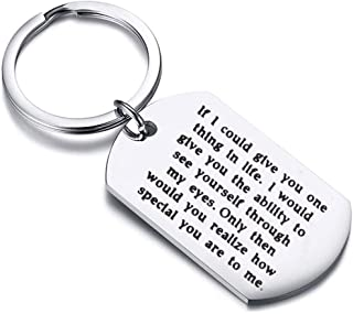 Zuo Bao Inspriational Gifts Graduation Keychain Dog Tag Keychain Gift to Son and Daughter If I Could Give You One Thing in Life