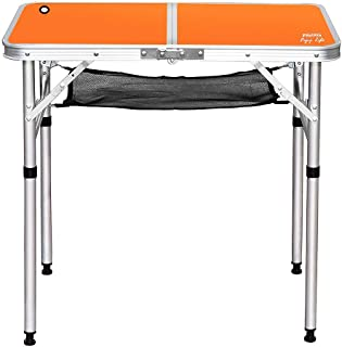 PSKOOK Folding Camping Table Picnic Table Perfect Size for Travel BBQ Beach Portable Lightweight Aluminum Folding Table