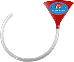 Beer Bong Funnel And Tube – 2 Foot Plastic College Party Alcohol Tube Hose Chugging Device – Perfect for Parties, Pregames, Beach Week, University Student Gag Gift – By Drinking Game Zone