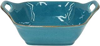 "Casafina Sardegna Collection Stoneware Ceramic Sq. Baker 11"", Blue"