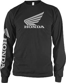Honda Mens Wing Long-Sleeve Shirt, Black, Large