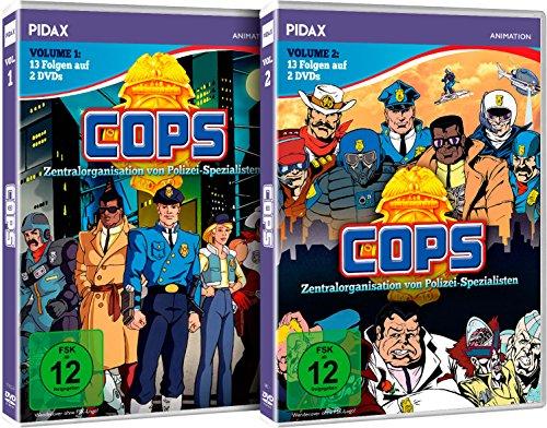 C.O.P.S. (COPS) - Vol. 1-2 - Gesamtedition / 26 Folgen der erfolgreichen Serie (Pidax Animation) [4 DVDs]