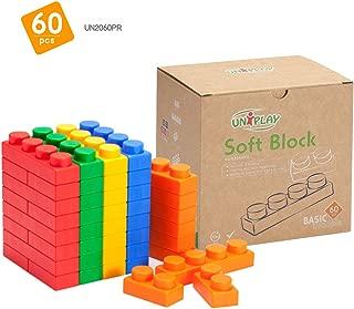 UNIPLAY Antibacterial Soft Building Blocks Basic Series Multi colors 60pcs