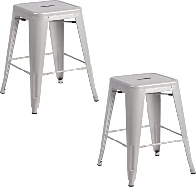 Awesome Amazon Com Dhp Fusion Metal Backless 30 Bar Stool With Ibusinesslaw Wood Chair Design Ideas Ibusinesslaworg