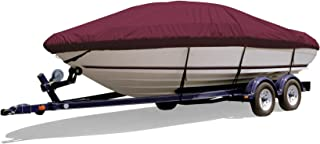 Survivor Marine Products Cover, V-Hull Style Runabout Boat with Open Bow, Outboard
