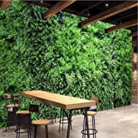 カスタム壁画壁紙3D緑の葉植物背景壁画レストランカフェリビングルームクリエイティブ-280X200CM