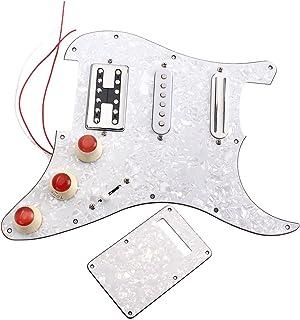 Homyl 3 Chapas Pre Cableados Pickguard Pastilla SSH Pickups Golpeador Guarda Placa para Guitarras Eléctricas