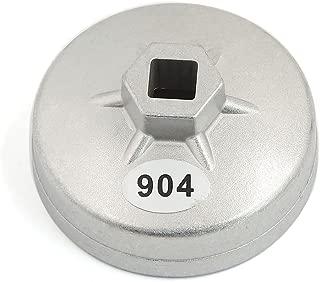sourcingmap/® 15 fl/ûtes 78mm Diam/ètre Int/érieur voiture Ton Argent Cl/é pour filtre /à huile outil Dissolvant