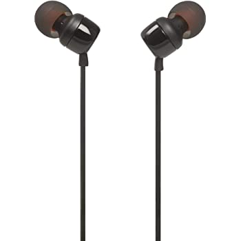 JBL TUNE 110 - In-Ear Headphone with One-Button Remote - Black