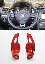 Pinalloy Rojo DSG Dirección de Extensión de la rueda Paddle Shifter para Golf MK5 6