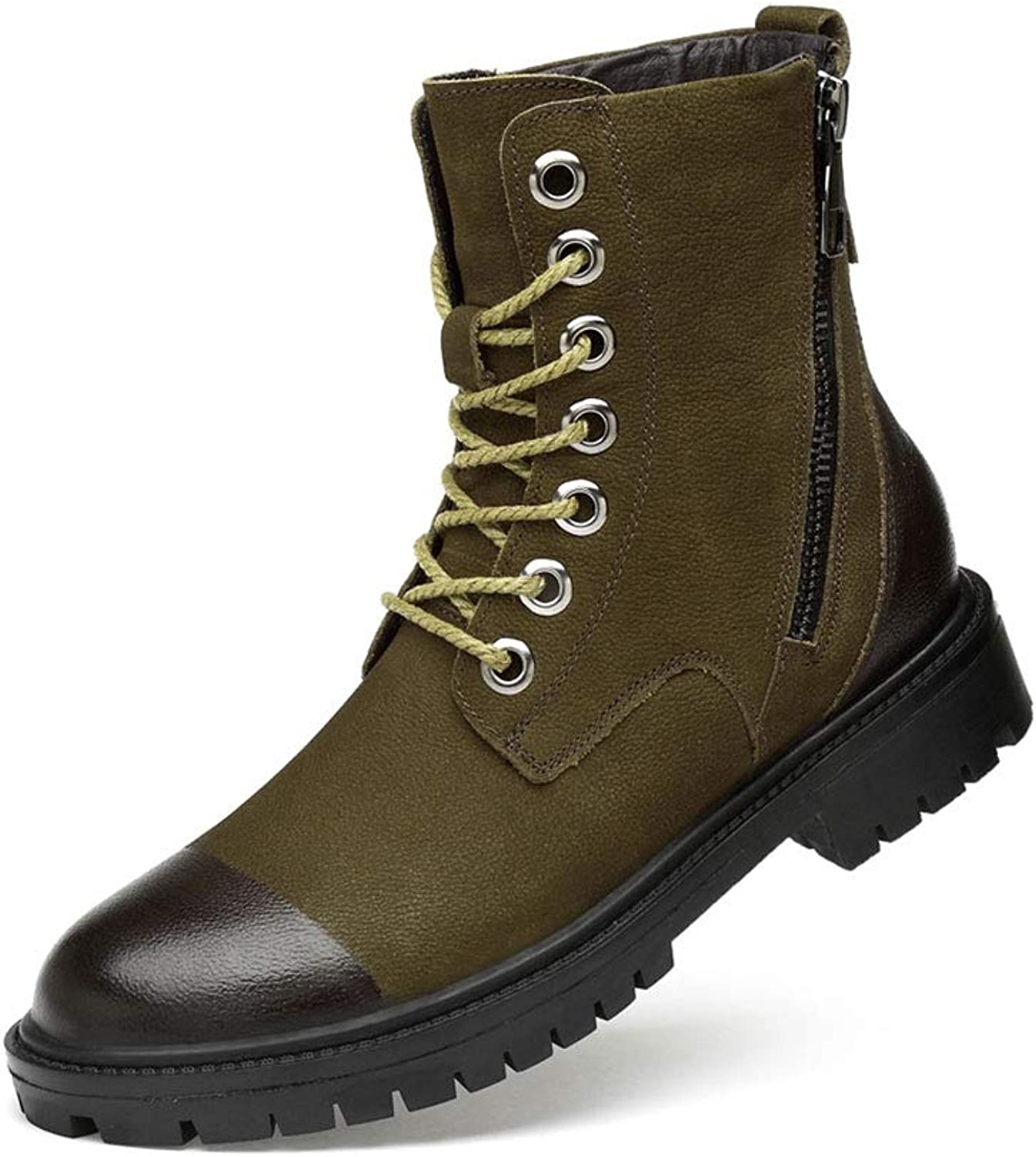 Walking Boots Winter Snow Boots Warm Mens Waterproof shoes Fully Fur Lined Anti Slip Rubber Sole