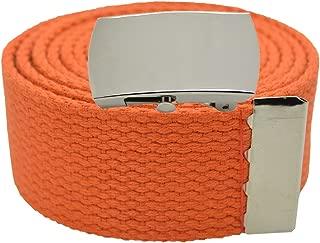 Pele Belt Unisex 1.5 Wide Canvas Webbing 2 Hole Rows Silver Roller Buckle