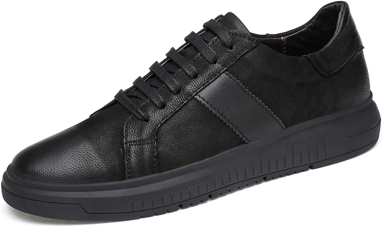 Men's Low-Top Sneakers Non-Slip Low-Neck Trainer Black Lace-Up Oxford shoes Size 37-44
