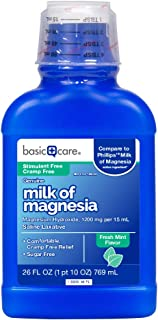 Basic Care Milk of Magnesia, Mint Flavor, 26 Fl. Oz