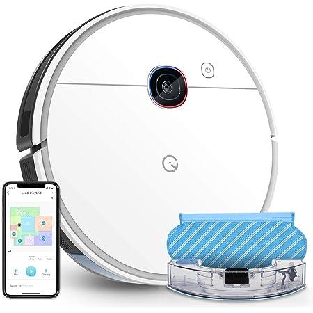 yeedi 2 hybrid Robot Aspirador y Fregasuelos, 2500Pa, mapeo navegación Inteligente con mapa, Depósito y Tanque 2 en 1 para Aspira, Barre, Friega y Pasa la Mopa, Compatible con Alexa & Google Home
