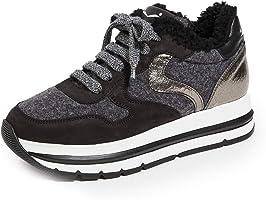 VOILE BLANCHE Women's Maran Shearling Platform Sneakers