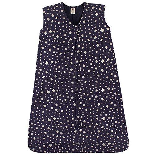 Hudson Baby Wearable Safe Soft Jersey Cotton Sleeping Bag, Midnight Stars, 12-18 Months