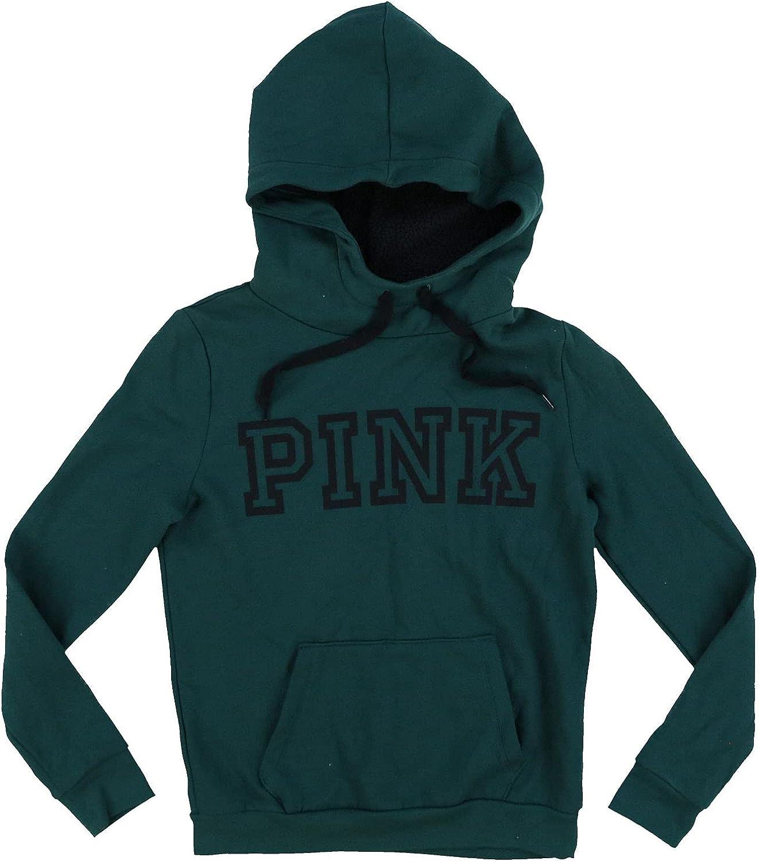 Victoria's Secret Pink Hoodie Sherpa Lined Hood Pullover Sweatshirt