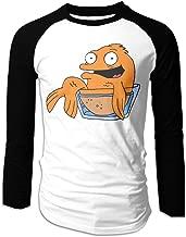 UIQAWQ4 American Dad Klaus Men's Long Sleeve Fit Baseball T-Shirts