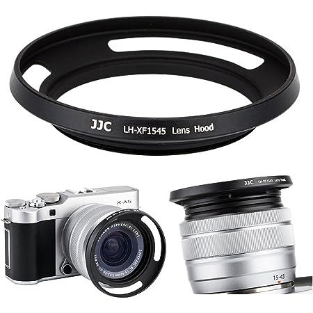 JJC 52mm ねじ込み式レンズフード シェード 富士フィルム Fujifilm Fujinon XC 15-45mm F3.5-5.6 OIS PZ用 カメラレンズフード 適合カメラ: X-T100 X-A5 X-H1 X-Pro2 X-Pro1 X-T2 X-T1 X-T20 X-T10 X-A10 X-E3 E2S A3 A2 A1カメラ/ブラック