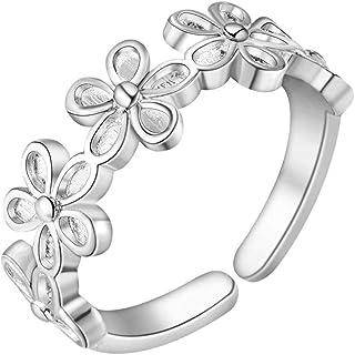 Lozse Anelli regolabili Ad anello aperto regolabile in ottone placcatura anello argento allergia Invia amico di famiglia r...