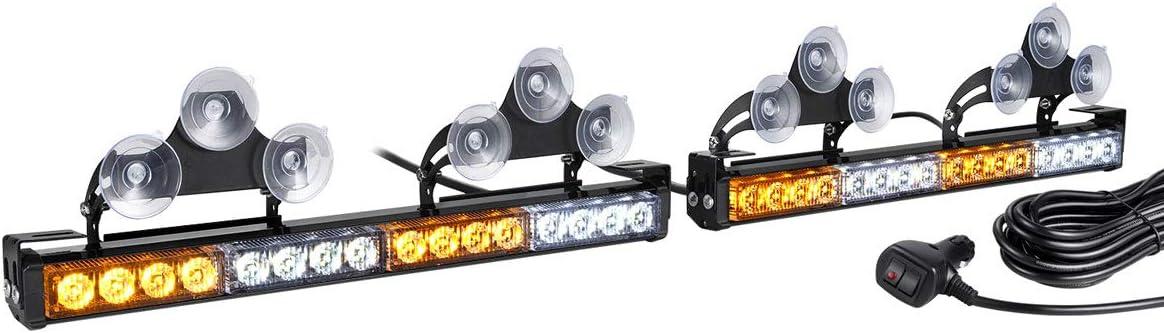 2 in 1 LED Free Shipping Cheap Bargain Gift Amber White Traffic List price Light Bar for Truc Strobe Advisor