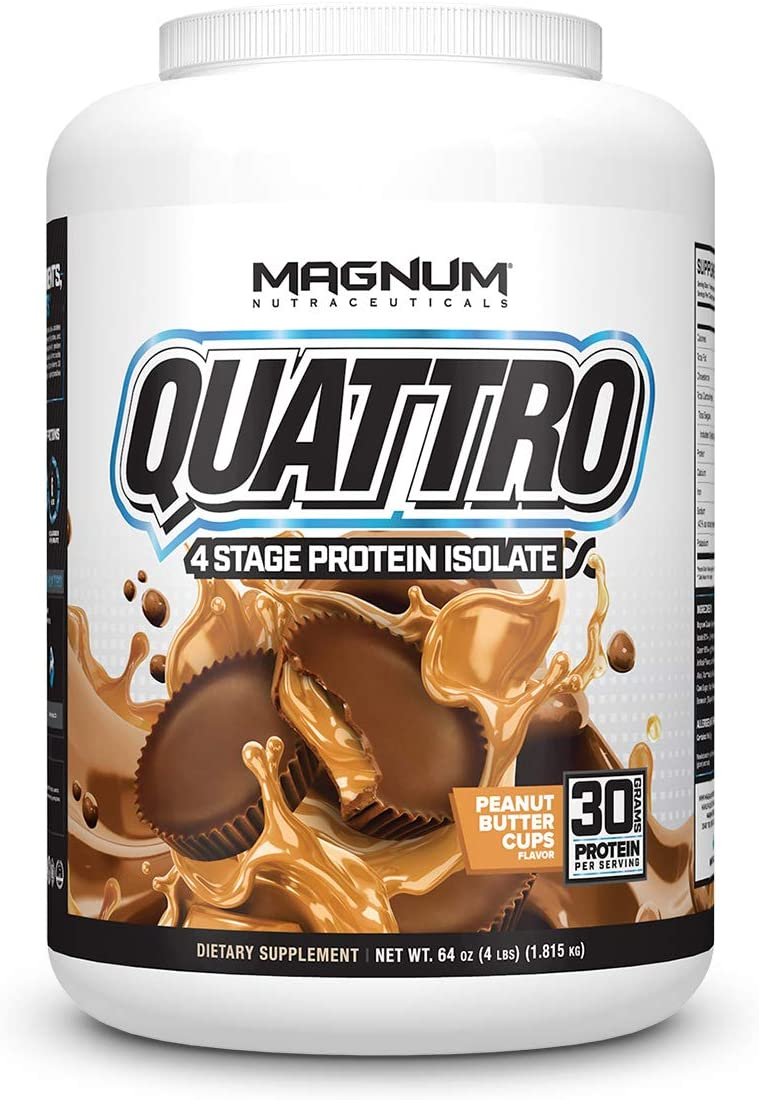 Magnum Nutraceuticals Fees free!! Quattro Protein Max 61% OFF Powder Peanut 4lbs But -