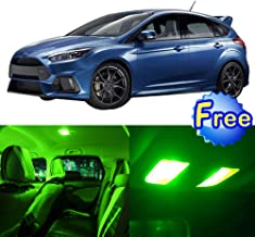 SCITOO LED Interior Lights 10pcs Green Package Kit Accessories Replacement for 2001-2013 Ford Focus
