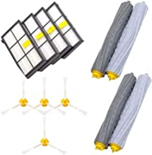 IOTdou Durable Vacuum Parts Replacement Parts For Irobot Roomba 860 880 805 860 980 960 Vacuums With 5 Pcs Filter 5 Pcs 3 Armedside Brush 2 Set Tangle Free Debris Rollers White