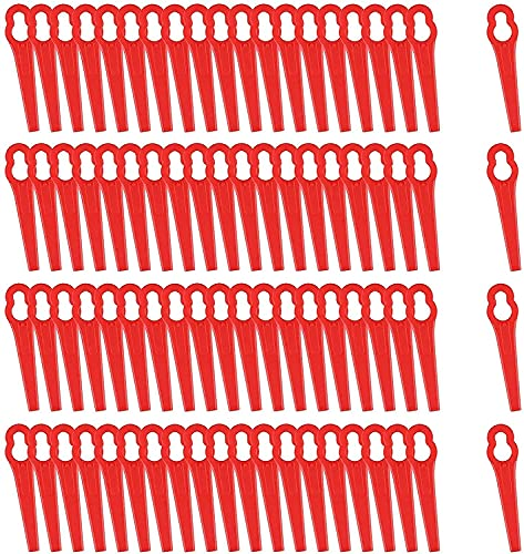 80 Stücke Rasentrimmer Messer Rot Kunststoff Ersatzmesser, trimmer ersatzmesser,stihl trimmer zubehör für FRT18A FRT18A1 46155 FRT20A1 Zubehör