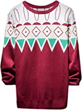 iLOOSKR Men's Autumn Winter Casual Slim Knitting Sweater Color Stitching Long Sleeve Top Blouse