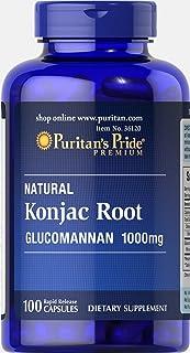 Puritan's Pride Konjac Root Glucomannan 1000 mg-100 Capsules