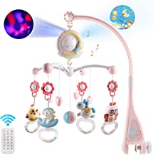 Baby Musical Crib Mobile with Timing Function Projector and Lights,Hanging Rotating..