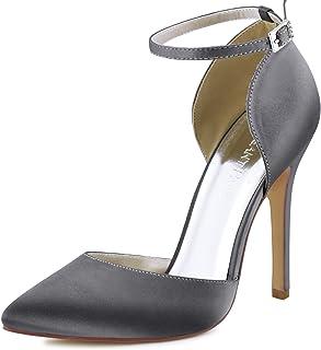 ElegantPark Women's Pointed Toe High Heel Ankle Strap...