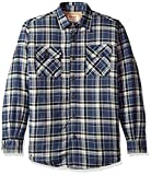 Wrangler Authentics Men's Long Sleeve Sherpa Lined Shirt Jacket, Mood Indigo, Large