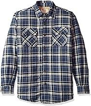 Wrangler Authentics Men's Long Sleeve Sherpa Lined Shirt Jacket, Mood Indigo, Large