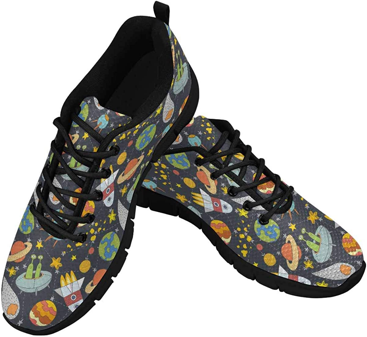 InterestPrint Space Pattern Women's Athletic Mesh Breathable Casual Sneakers Fashion Tennis Shoes