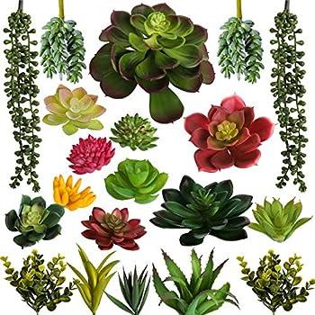 artificial succulent plants unpotted