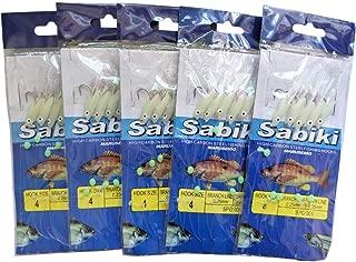 10 Packs Sabiki Rigs Fishing Flasher Lures Bait Rigs Fish Skin Luminous Soft Fish Glow Fishing Beads High Carbon Hooks for Freshwater/Saltwater