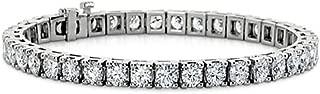 Madina Jewelry 3.00 ct Ladies Round Cut Diamond Tennis Bracelet in 14 kt White Gold