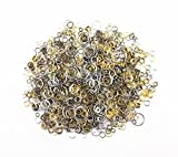 yueton?100 Gram (Approx 1650pcs) Mixed Color and Size Assorted Antique Jump Ring Connector Link for Crafting,...