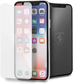 CG Mobile Ferrari Off Track Tempered Glass Screen Protector with Invisible Logo for iPhone X Official