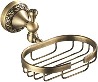 Bronze New European Brass soap Grid soap Dish soap Box Bathroom soap net soap Box Soap Saver Box Case for Bathroom