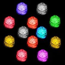 Multi-Color Ice Cube Lights Led Simulation Ice cubes Light Up Liquid Sensor Cubes Party Colorful Lights for Halloween Wedding Club Bar Champagne Tower Decoration (60 PCS)