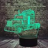 Jinlycoo Optimus Prime lámpara de coche 3D ilusión óptica LED noche luz para niño dormitorio 7 colores USB cambio de cable transformadores robots autobots ventiladores de película regalo para