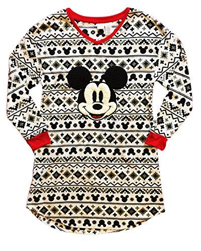 Disney Women's Mickey Mouse Fleece Nightgown Sleep Shirt (S/M)