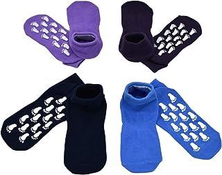 Toddler Socks Anti Skid Grips Non Slip Athletic Trampoline Socks 4 Pair Group Non Skid For Baby Girl/Kid