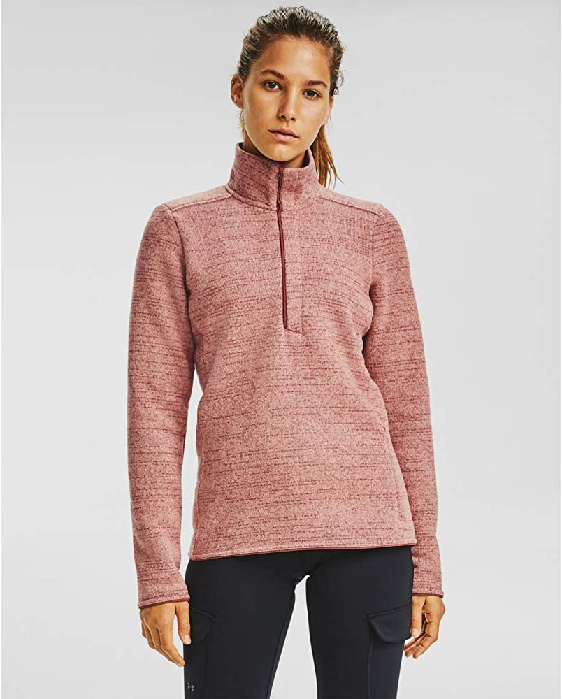 Super special price Under Armour Women's Inventory cleanup selling sale Wintersweet 2.0 T-Shirt 1 4 Zip